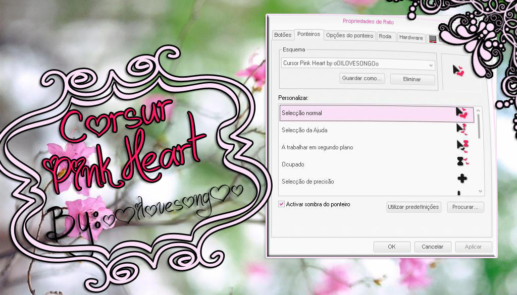 Cursor Pink Heart by oOILOVESONGOo