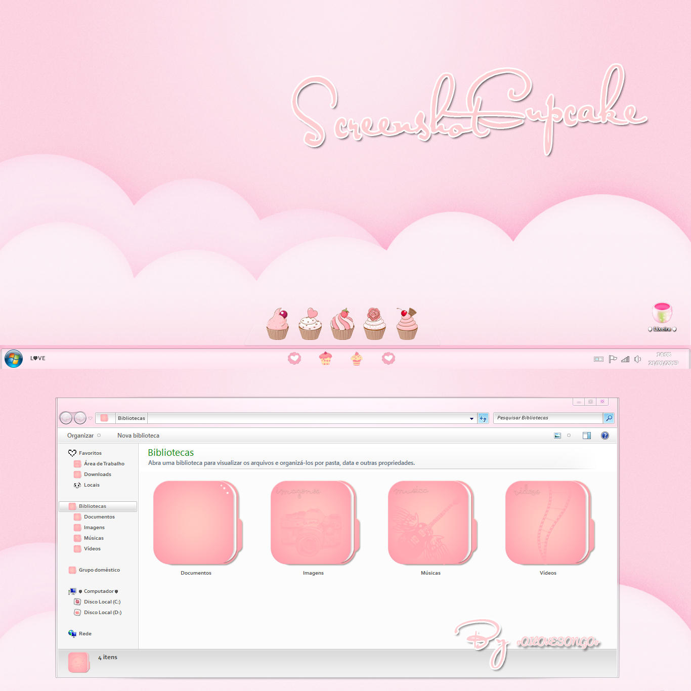 Screenshot Cupcake ( Windows 7 ) by oOILOVESONGOo