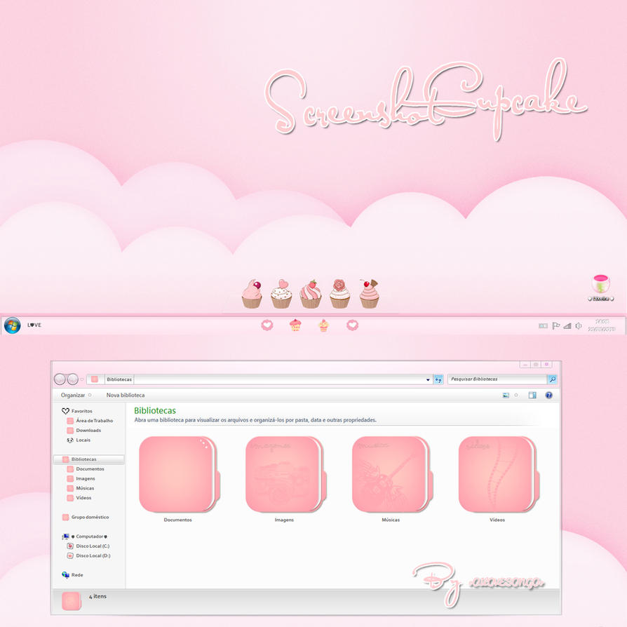 Screenshot Cupcake ( Windows 7 ) by oOILOVESONGOo