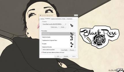 Cursor Black rose By oOILOVESONGOo