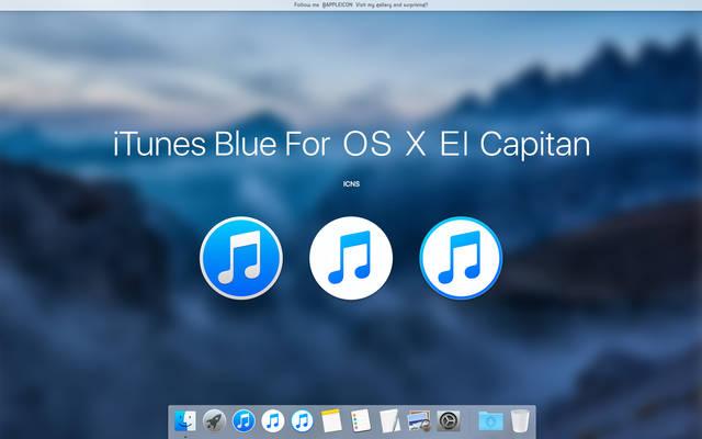 iTunes Blue For OS X El Capitan