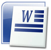 Word 2007 logo Mockup PSD