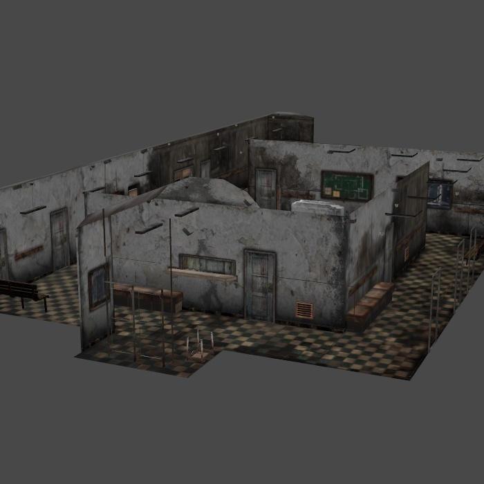 [Silent Hill 2] Hospital by shprops4xnalara