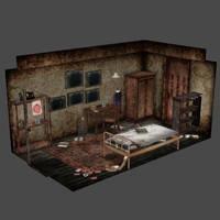 [Silent Hill 3] Alessa's room by shprops4xnalara