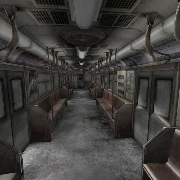 [Silent Hill 3] Subway car by shprops4xnalara