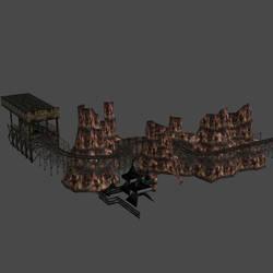 [Silent Hill 3] Rollercoaster rails by shprops4xnalara