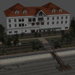[Silent Hill 2] Lakeview Hotel outside by shprops4xnalara