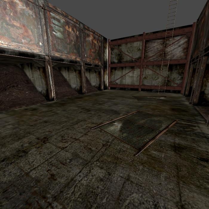 [Silent Hill 3] Splitworm arena by shprops4xnalara