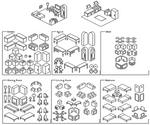 House Building Pixel Brush Set