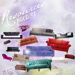 Sofa PNG Pack by melismerve22