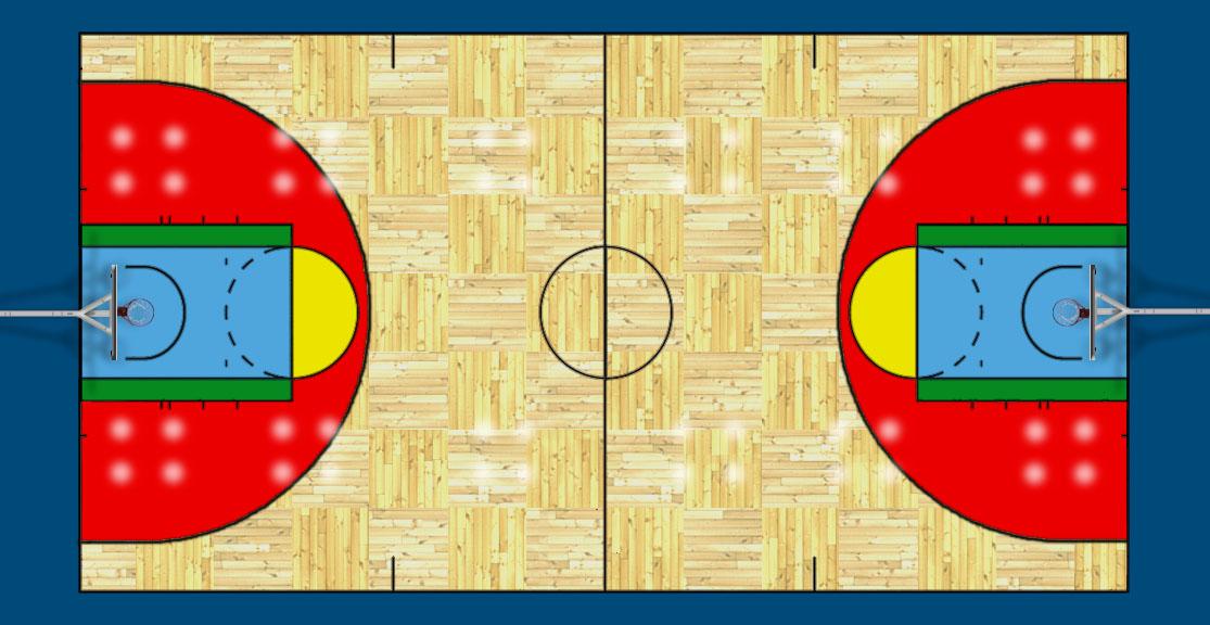 Basketball court Psd