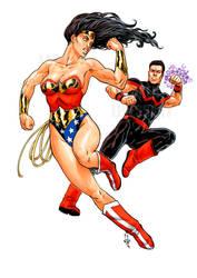 Wonder-man Wonder-Woman Laurent-Libessart-DA by pin-up-corner-shop