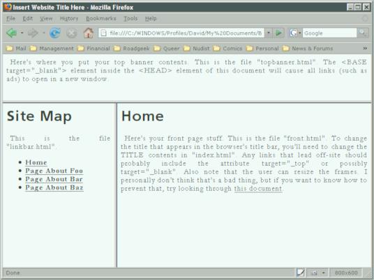 Basic HTML Frames Tutorial by vidthekid on DeviantArt