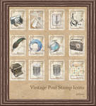 Vintage Stamp Dock Icons