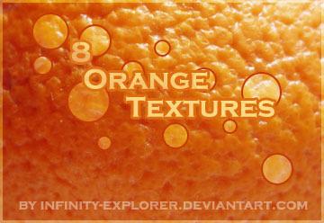 8 Orange Textures