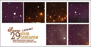 29 icon textures: 'colored' snow