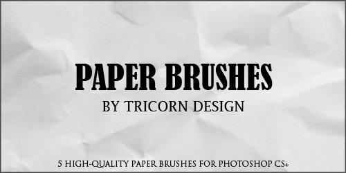 Paper Brushes by TriCornDesign