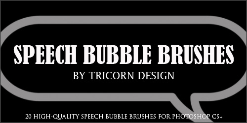 Speech Bubble Brushes by TriCornDesign