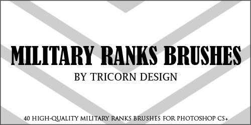 Military Ranks Brushes