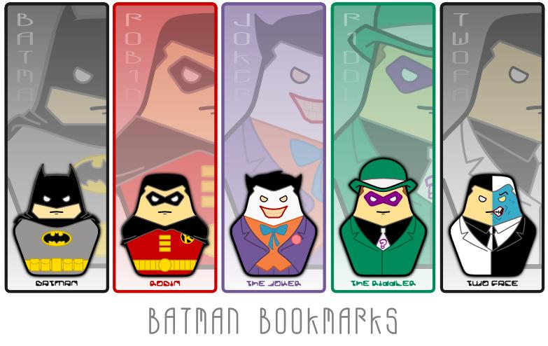 Batman Bookmarks By TriCornDesign On DeviantArt