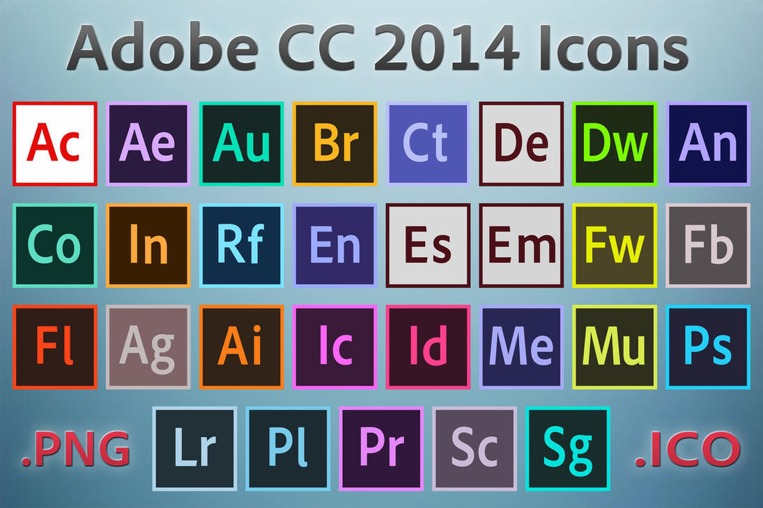 adobe cc 2014 icons by ruffsnap on deviantart