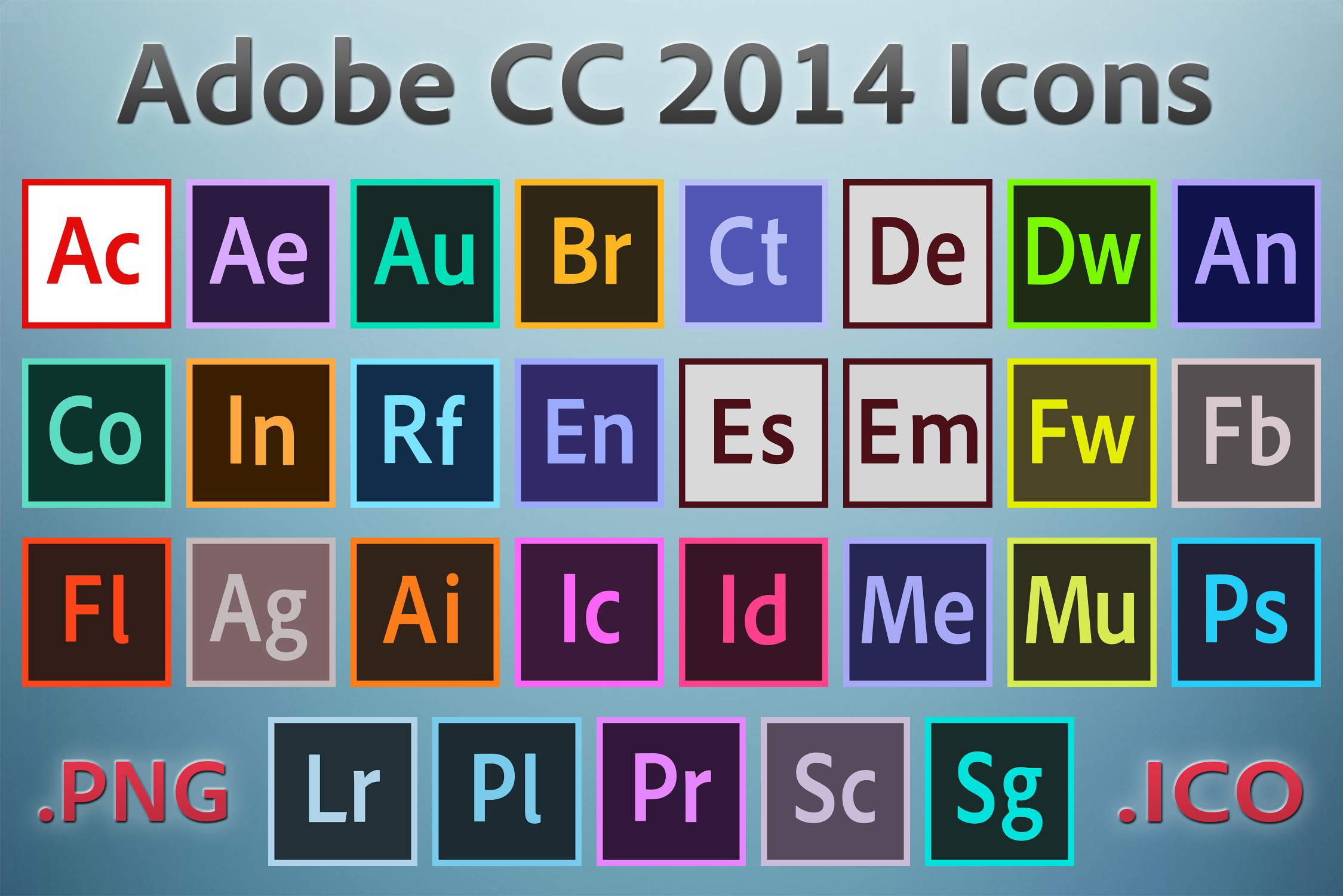 Adobe Cc 2014 Icons By Rrpjdisc On Deviantart