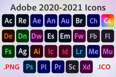 Adobe 2020-2021 Icons
