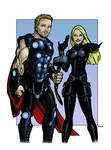 Thor Black Widow Commissioned Hero Treatment