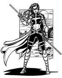 Huntress BW by ReeceFriesen