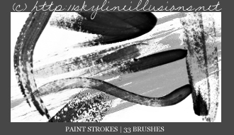 Paint Strokes PS Brushes by SkylineIllusions