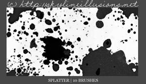 Splatter PS Brushes by SkylineIllusions