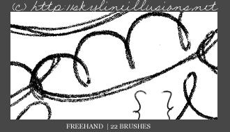 Freehand PS Brushes by SkylineIllusions