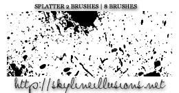 Splatter Brushes by SkylineIllusions