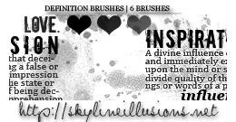 Love Definition Brushes
