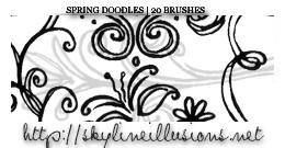 Spring Doodles Brush Set by SkylineIllusions