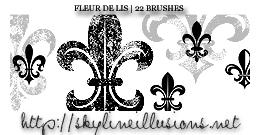 Fleur de Lis Brushes by SkylineIllusions