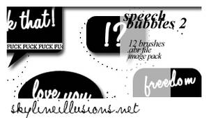 Speech Bubbles 2 Brushes