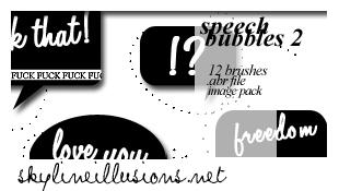 Speech Bubbles 2 Brushes by SkylineIllusions