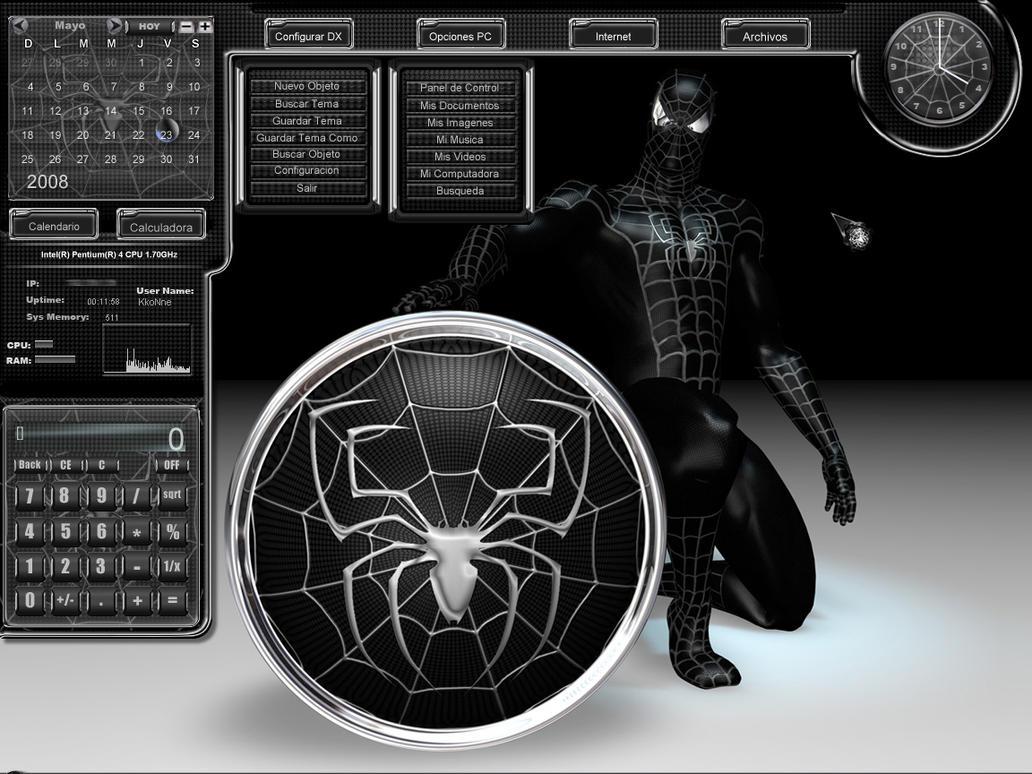 Spider-Man Black for DesktopX by DaRkFuSsIoOn