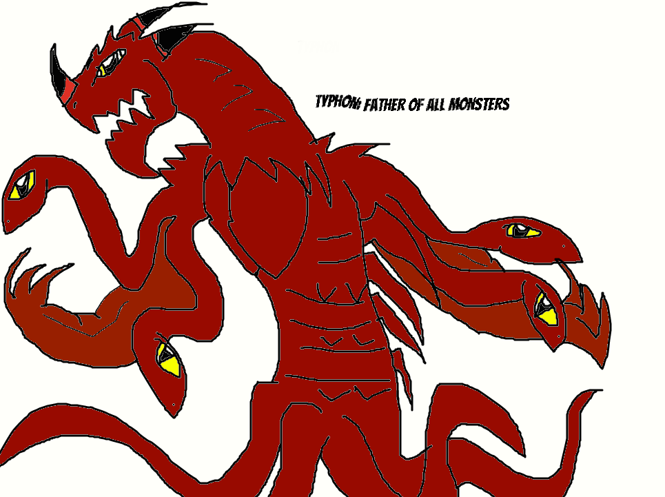 Typhon: Father of all Monsters by SuperAwesomeGodzilla
