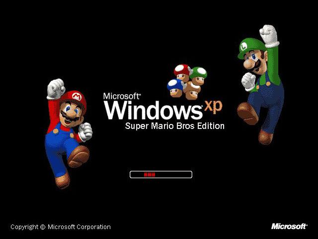 Windows XP Super Mario Edition