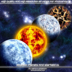 Realistic Planets + Starfield by Qzma