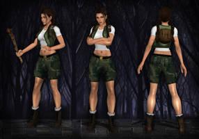 Lara Croft Young TR4-5 by Larreks