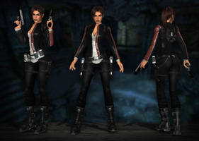 Lara Croft TRL - Biker by Larreks