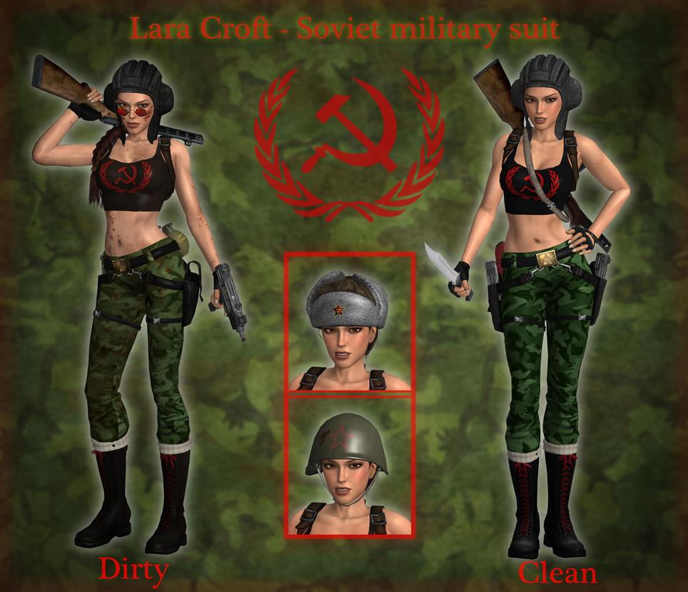 Lara Croft - Soviet military suit by Larreks
