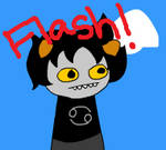 Attempting Flash With Karkat