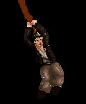Indiana Jones whip animation