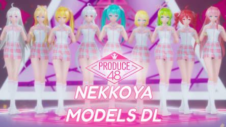[MMD] PRODUCE48 - NEKKOYA(Pick Me) [MODELS DL]