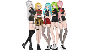 [MMD] Random K-Pop Girls [Models + Poses DL]
