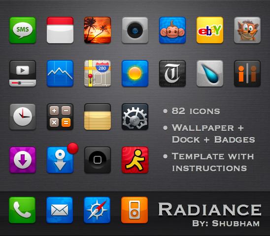 Radiance theme for iPhone by kediashubham